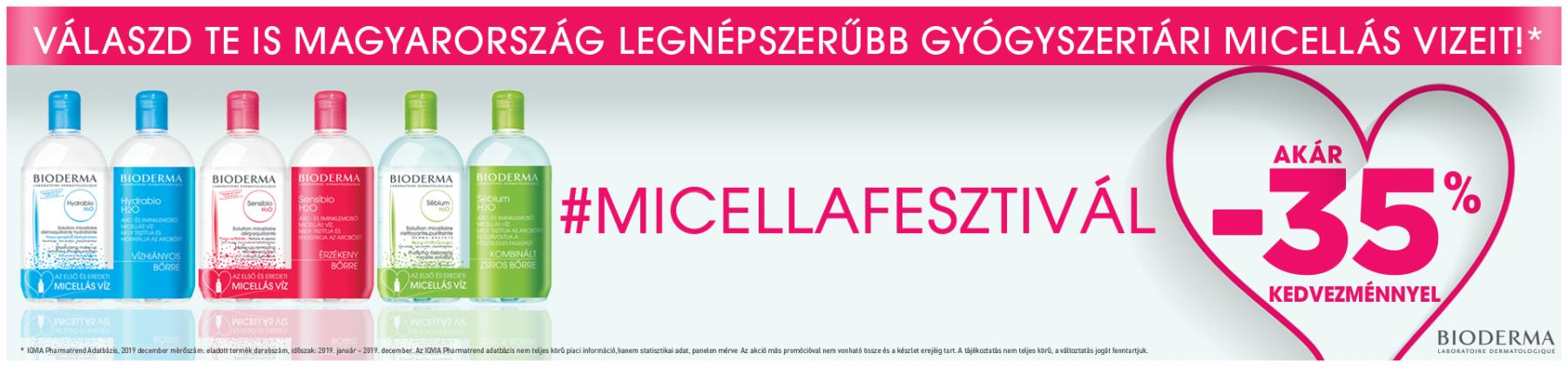 Bioderma Micellafesztivál - 35%