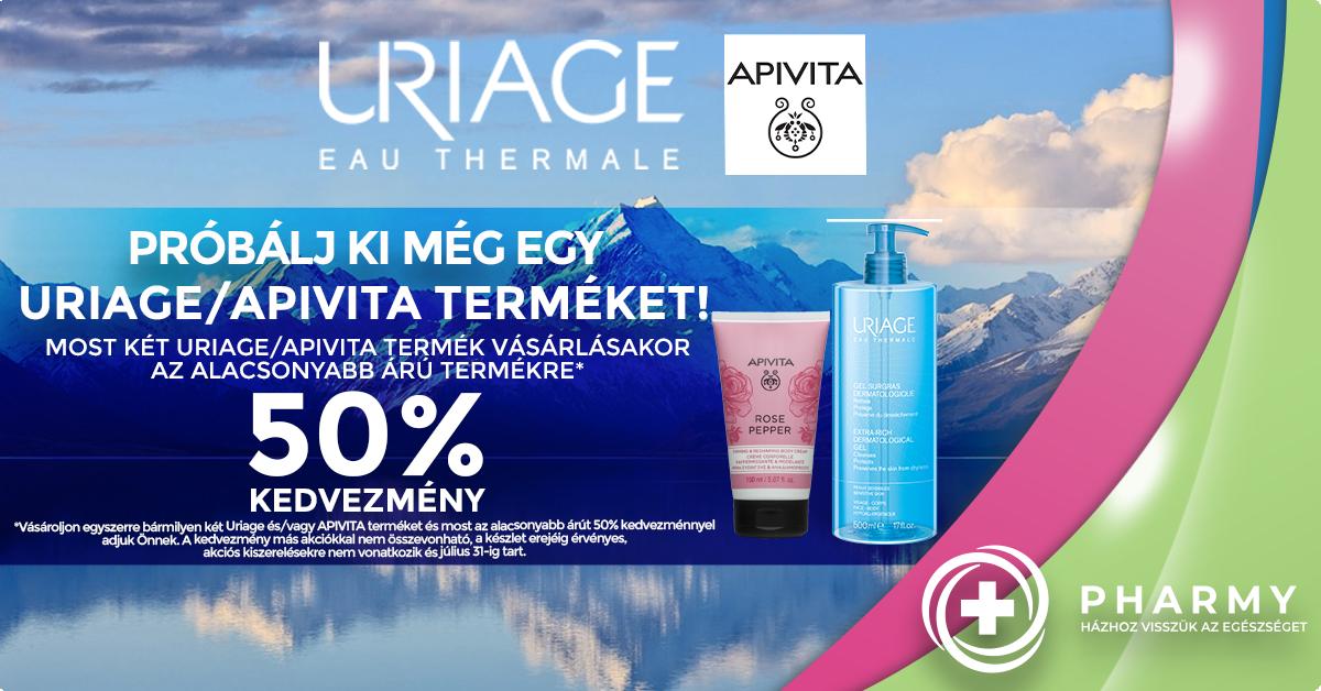 Apivita - Uriage akció - CSAK 50%