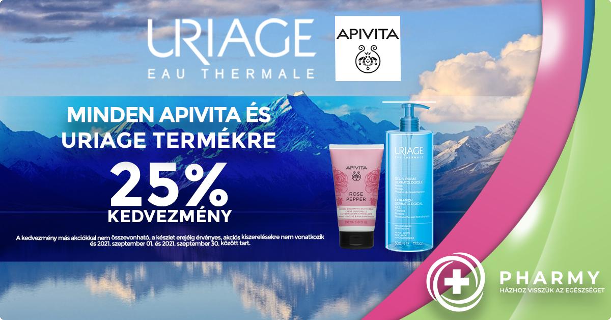 Apivita - Uriage akció - 25%