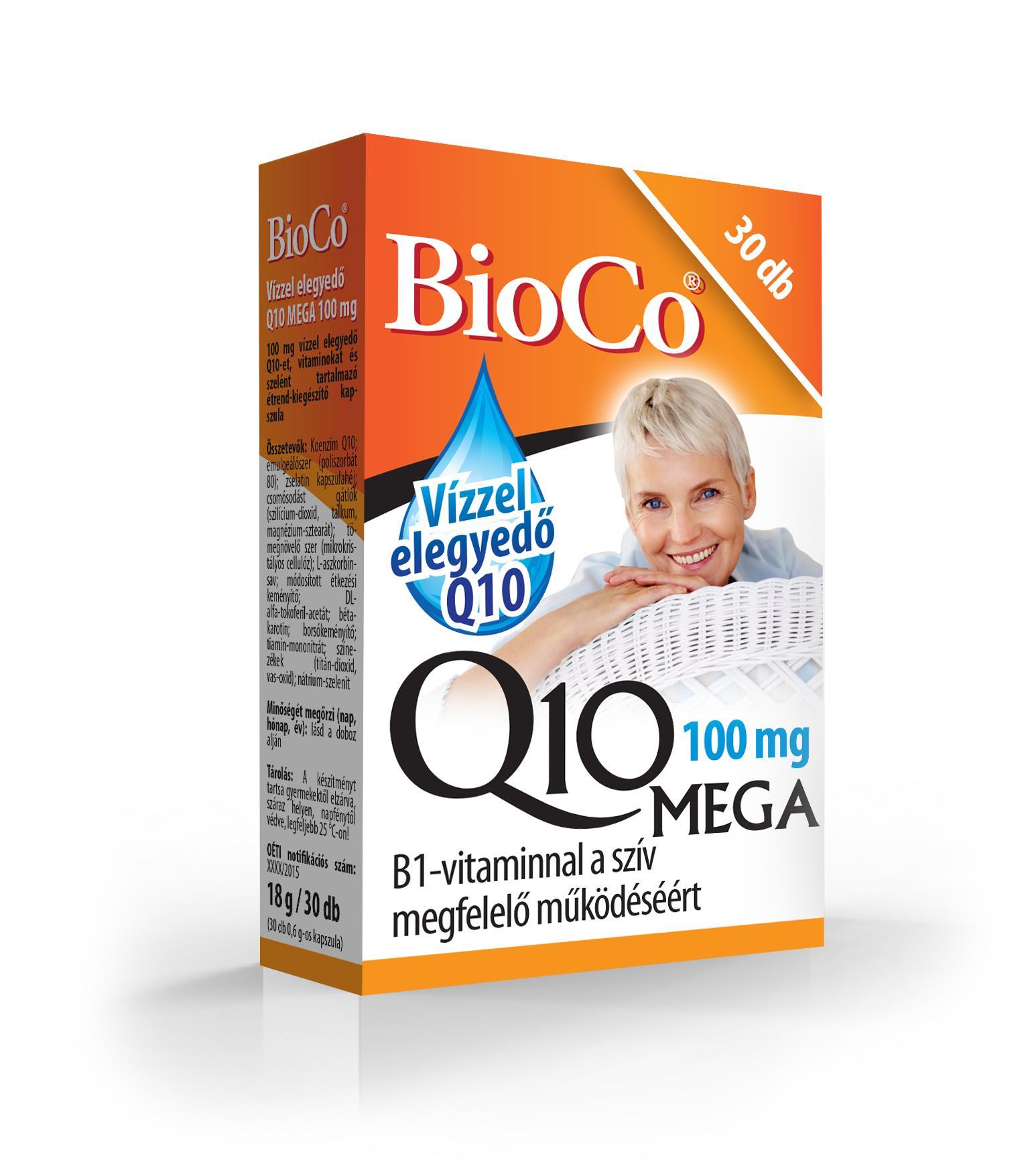 BioCo Q10 Mega 100 mg vízzel elegyedő kapszula 30x