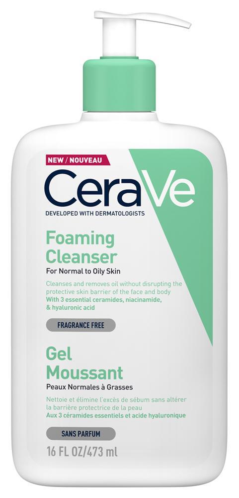 CeraVe Habzó tisztító gél arcra és testre 473ml