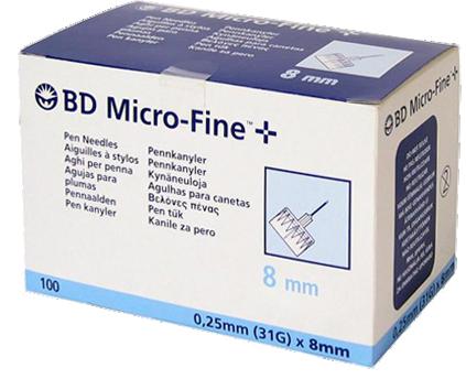 BD Micro-Fine Pen inj. tű 31G 100x