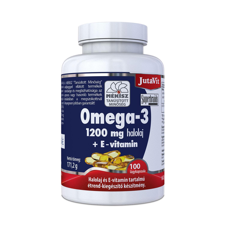 JutaVit Omega-3 Halolaj 1200 mg + E-vitamin kapsz 100x
