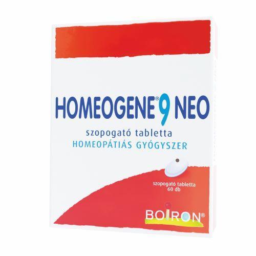 Homeogene 9 Neo szopogató tabletta 60x