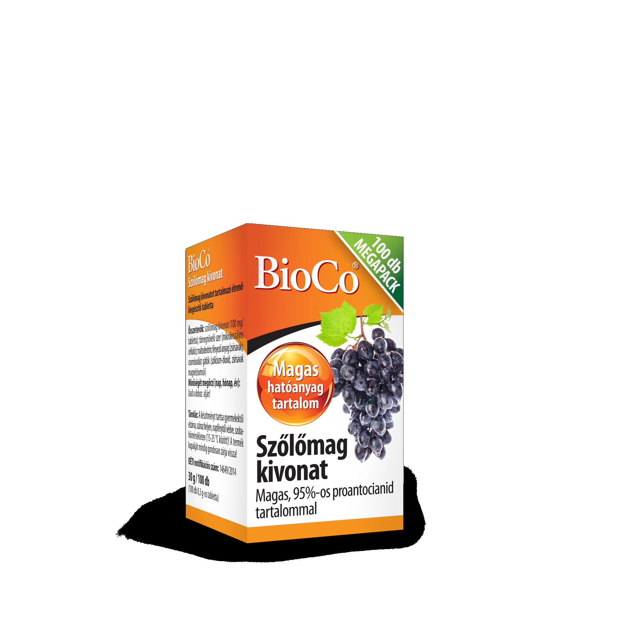 BioCo Szőlőmag kivonat tabletta Megapack 100x