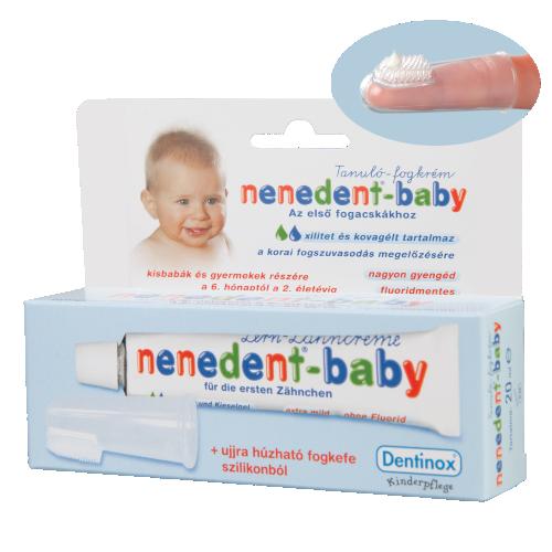 Nenedent-baby tanulószett fogkrém+fogkefe 20ml