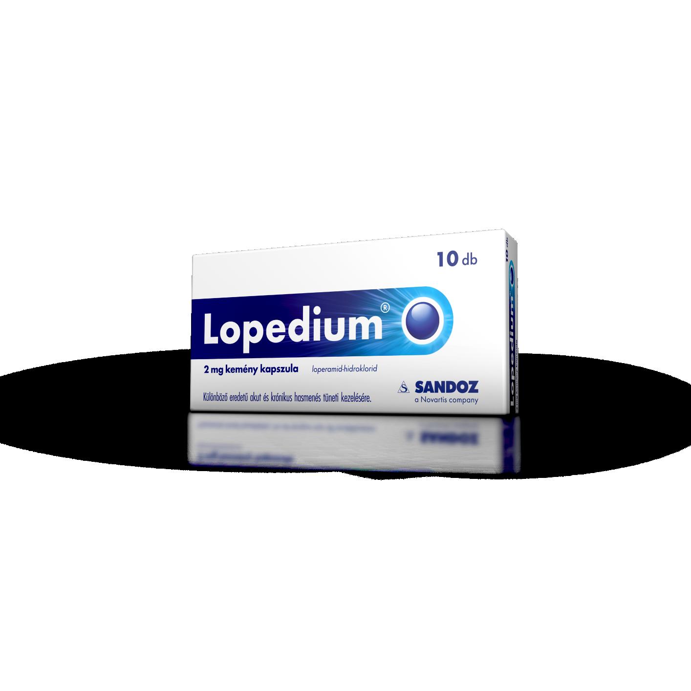 Lopedium 2 mg kemény kapszula 10x