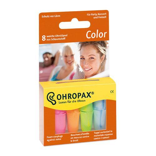 Füldugó OHROPAX műanyag ColorPlux színes 8x
