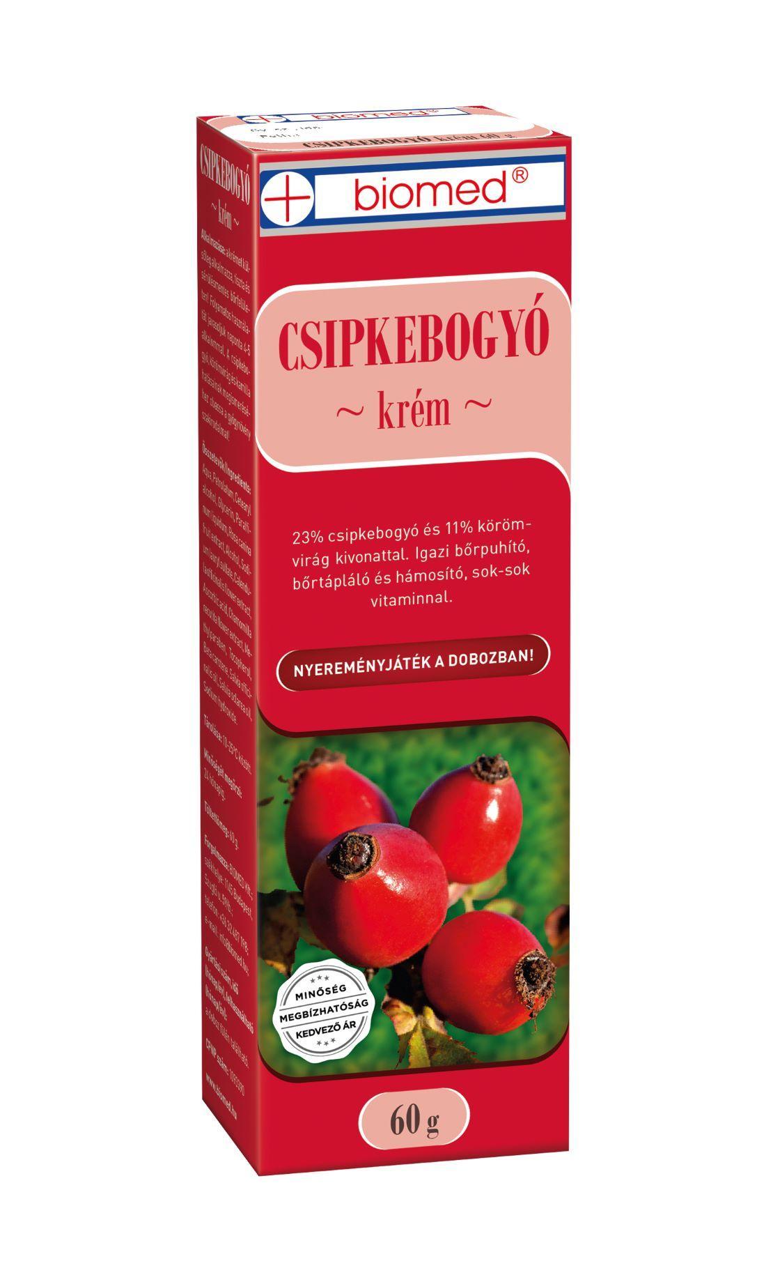 Biomed Csipkebogyó+Körömvirág krém 60g