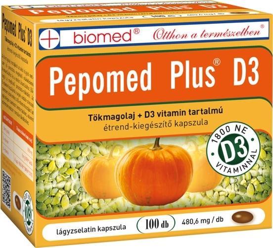 Biomed Pepomed Plus D3 vit kapszula 100x