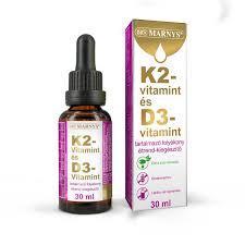 Marnys K2 és D3 vitamin folyékony étrendkiegészítő 30ml
