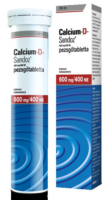 Calcium-D-Sandoz 600 mg/400 NE pezsgőtabletta 20x