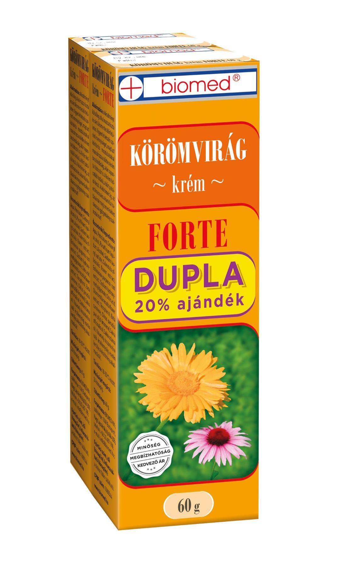 Biomed Körömvirág krém Forte Dupla 2x60g