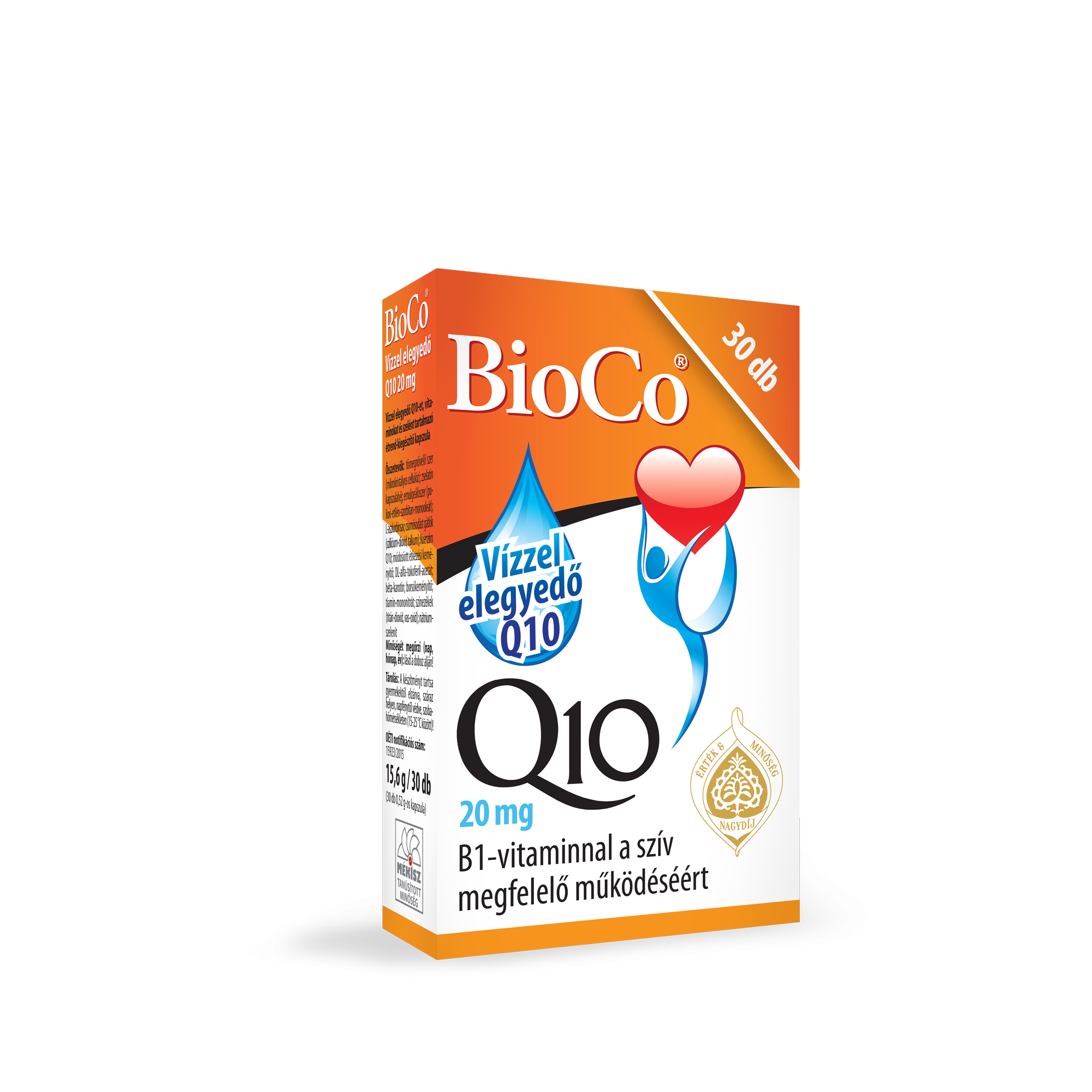 BioCo Q10 20 mg transzport emulziós kapszula 30x