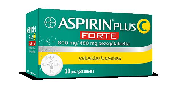 Aspirin Plus C Forte 800 mg/480 mg pezsgőtabletta 10x