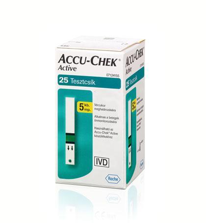 AccuChek Active Glucose vércukorszintmérő csík 25x