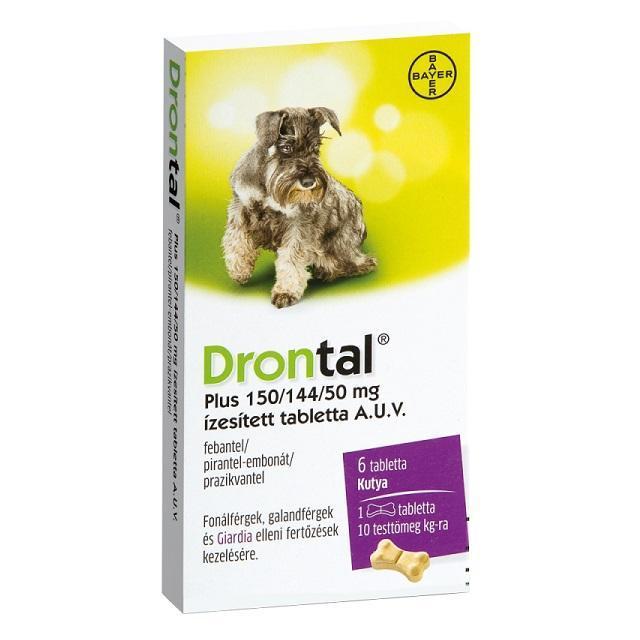 Drontal Plus 150/144/50mg íz.tabl. a.u.v. 6x