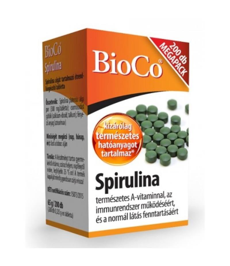 BioCo Bio Spirulina tabletta megapack 200x