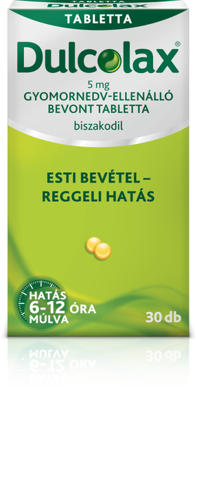 Dulcolax  5 mg gyomornedv-ellenálló bevont tabl. 30x