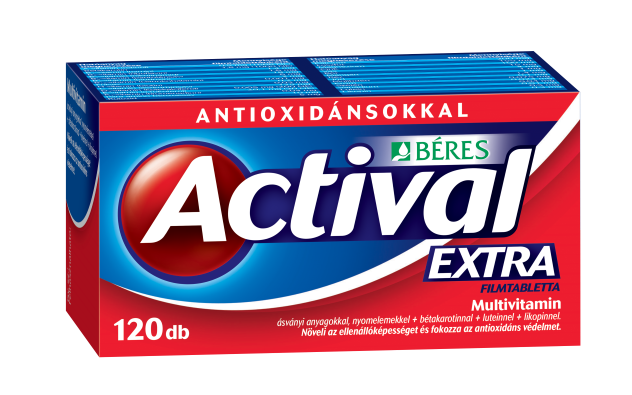Actival Extra filmtabletta 120x HDPE