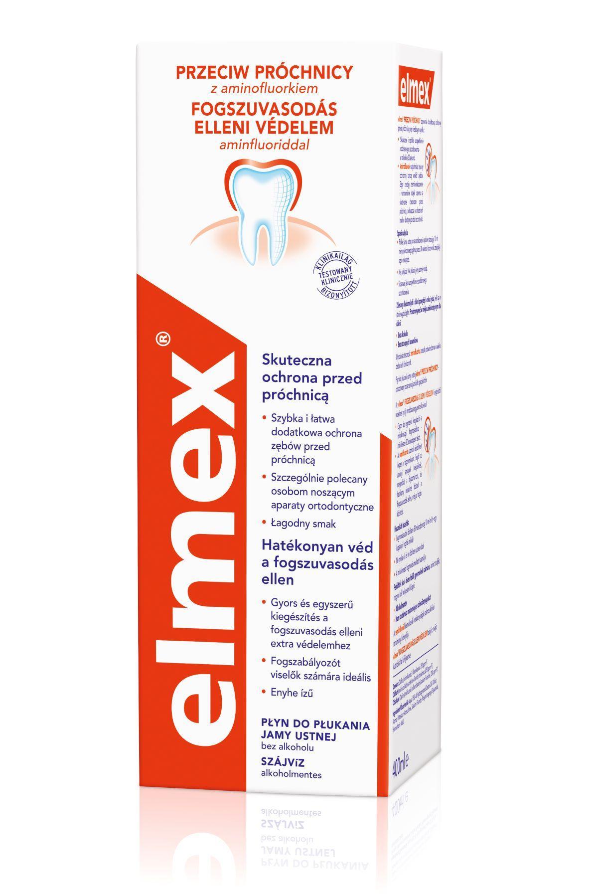 Elmex szájvíz fogszuvasodás ellen 400ml