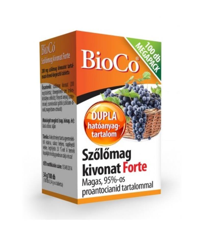BioCo Szőlőmag forte tabletta Megapack 100x