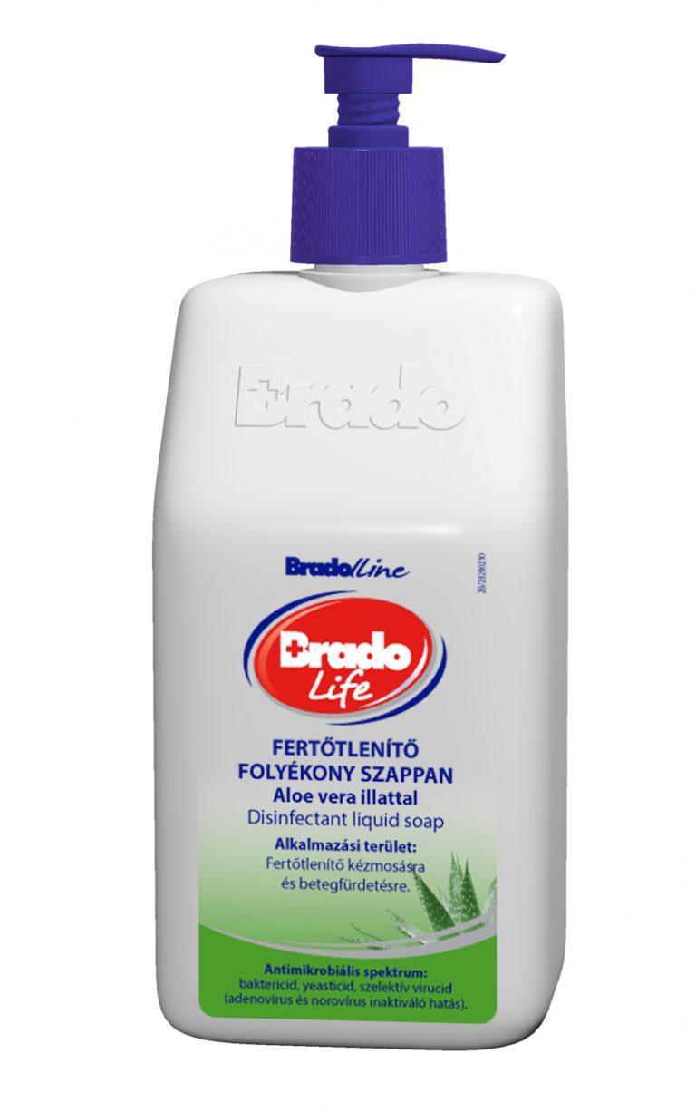 Bradolife fertőtlenítő szappan folyékony aloe vera 350ml
