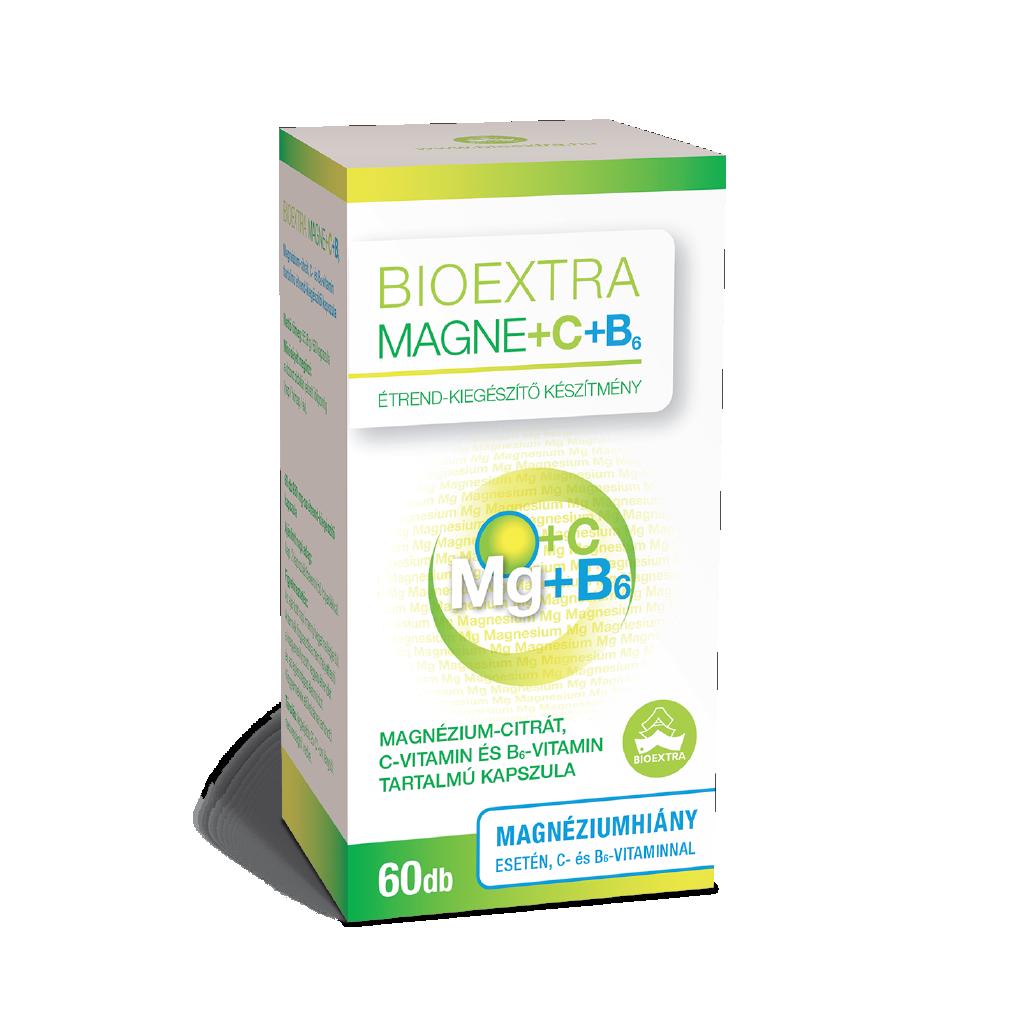 Bioextra Magne + C + B6-vitamin kapszula 60x