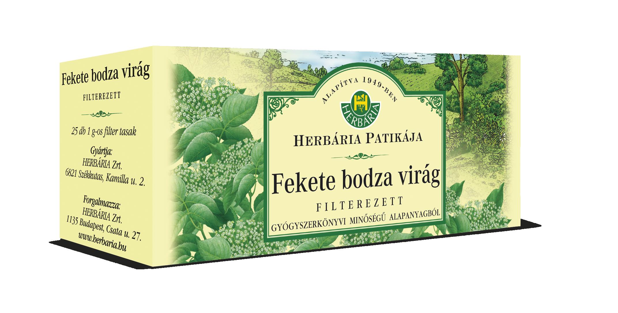Bodzavirág filteres HERBÁRIA 25x