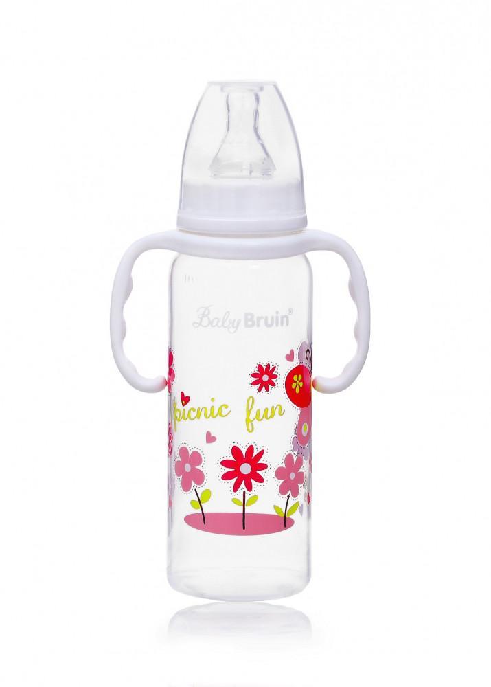 Baby Bruin cumisüveg PP BPA mentes fogóval 240ml 1x