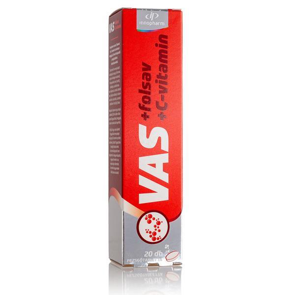 VitaPlus Vas folsav C-vitamin pezsgőtabl. meggy 20x