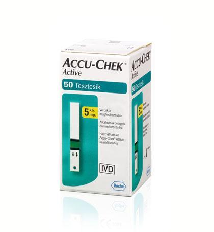 AccuChek Active Glucose vércukorszintmérő csík 50x