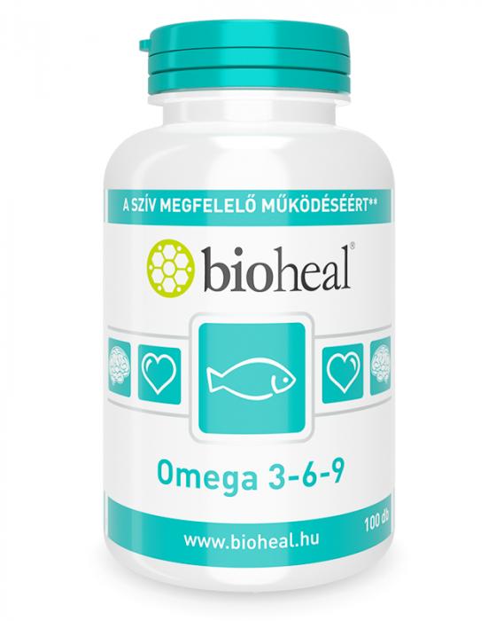 Bioheal Omega 3-6-9 1200 mg lágyzselatin kapszula 100x