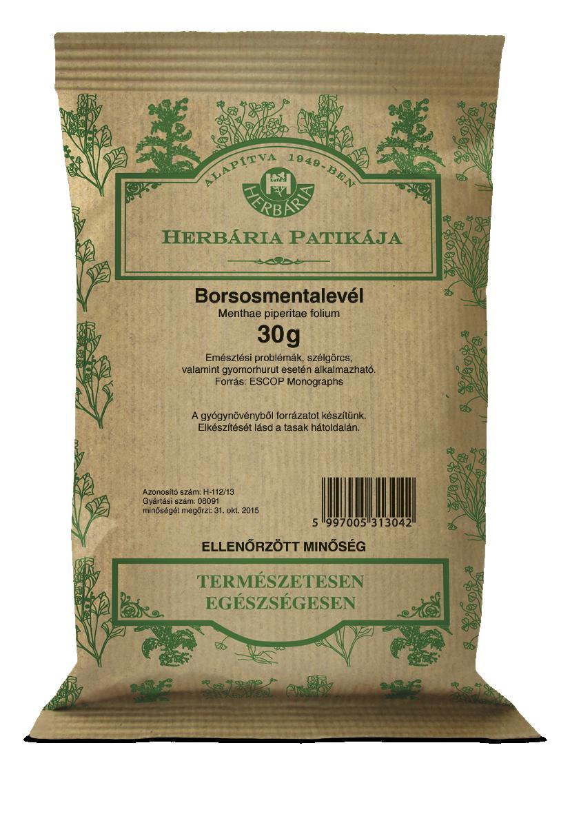 Borsmentalevél HERBÁRIA 30g