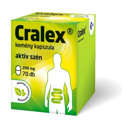 Cralex kemény kapszula (Carbo medicinalis) 50x