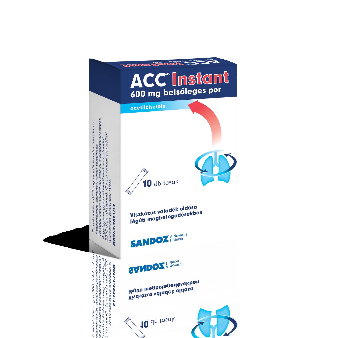 Acc Instant 600 mg belsőleges por 10x