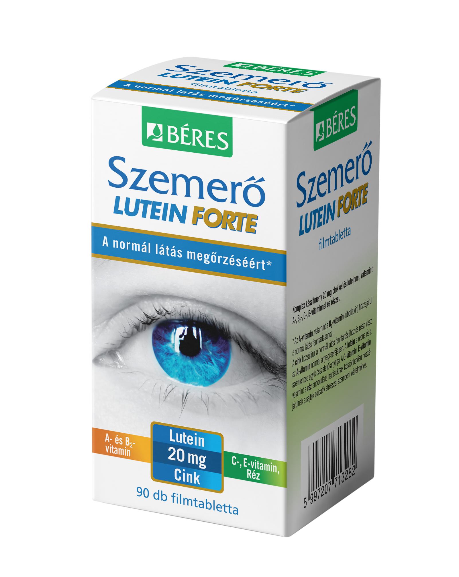 Béres Szemerő Lutein Forte étrendkiegészítő ftabl. 90x