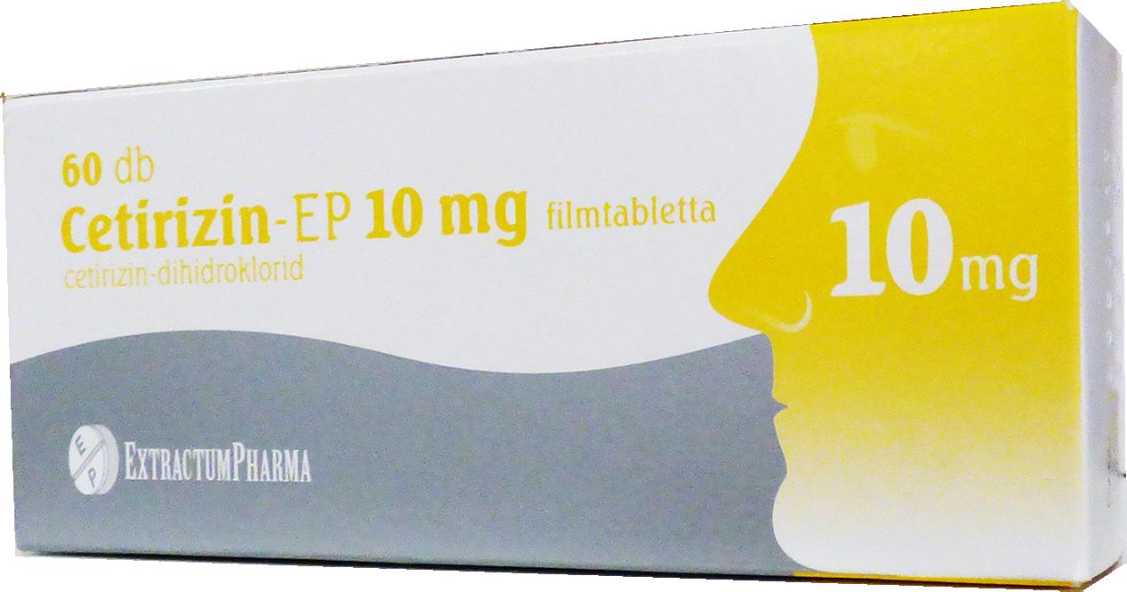 Cetirizin-EP 10 mg filmtabletta 30x
