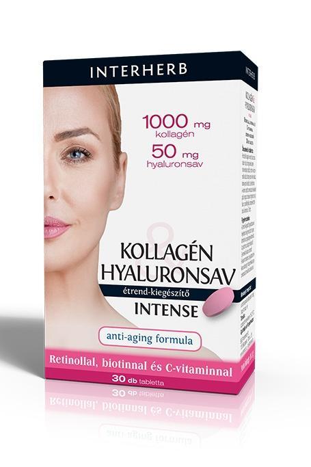 INTERHERB Intense Kollagén+Hyaluronsav tabl. 30x