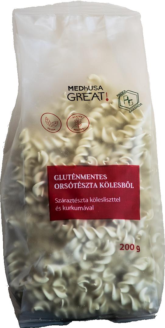 MEDhUSA Gluténmentes Orsótészta Kölesből 200g