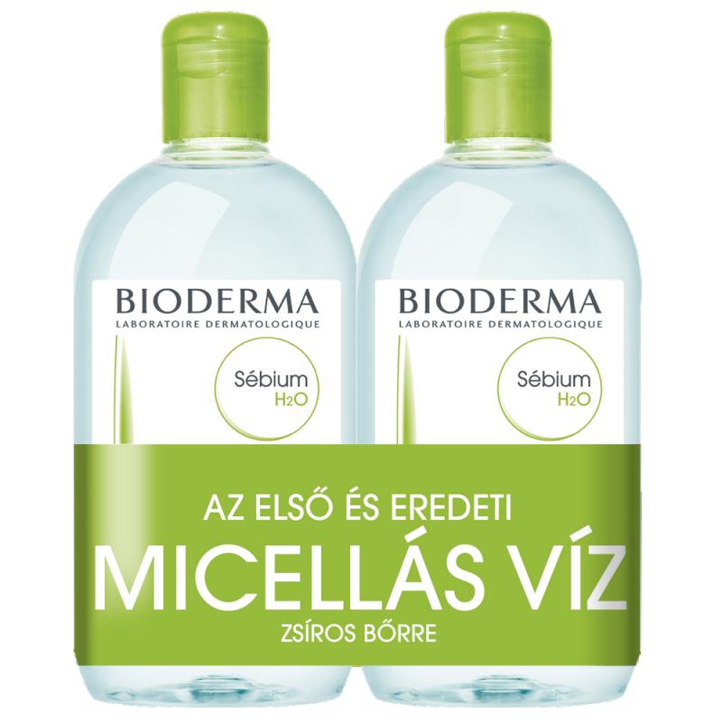 Bioderma Sébium H2O arclemosó zsíros bőrre 500+500ml