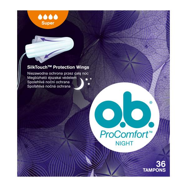 O.b. ProComfort Night tampon super 36x