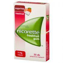 Nicorette Freshfruit gum 4 mg gyógyszeres rágógumi 30x