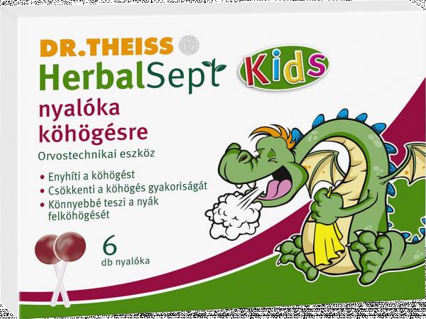 Dr. Theiss HerbalSept Kids nyalóka köhögésre 6x