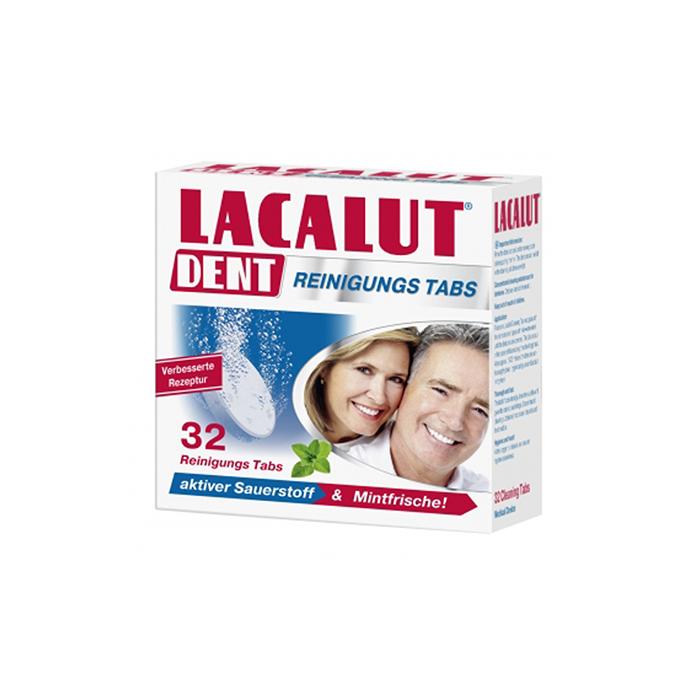 Lacalut Dent műfogsortisztító tabletta 32x