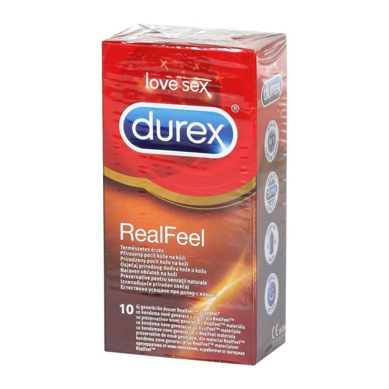 Óvszer Durex Real Feel 10x