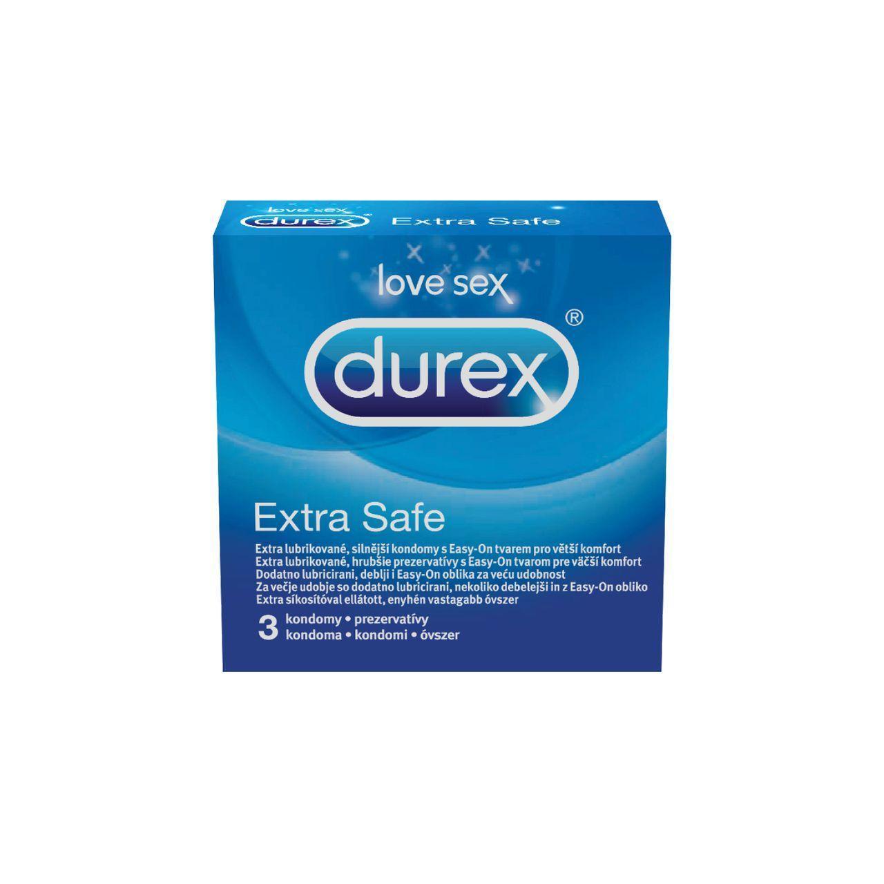 Óvszer Durex Extra Safe spermicid 3x