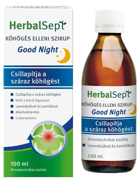 Dr. Theiss HerbalSept Goodnight szirup köhögésre 100ml
