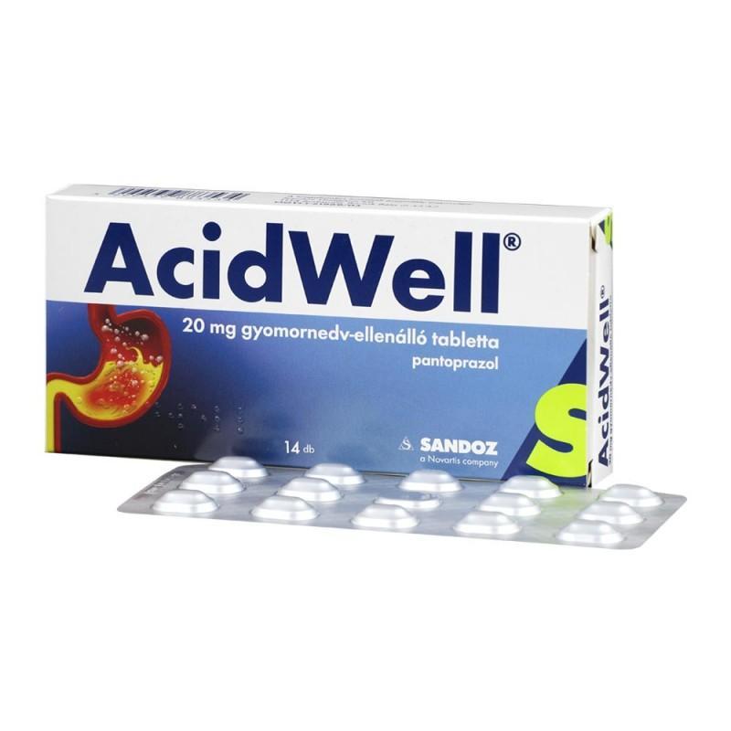 Acidwell 20 mg gyomornedv-ellenálló tabletta 14x