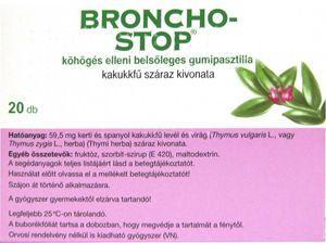 Bronchostop köhögés elleni bels. gumipasztilla 20x